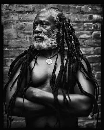 """Music is more than just listening to it. People use the music for them protection at times."" ~ Burning Spear, Winston Rodney, Photo by Mark Seliger"