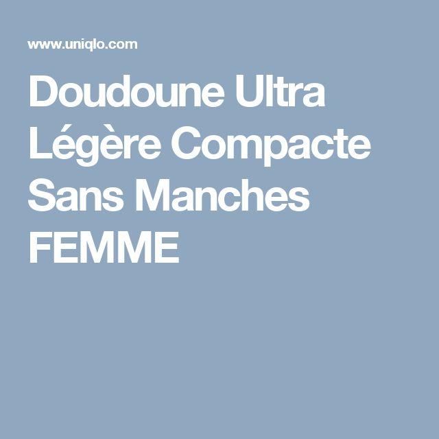 Doudoune Ultra Légère Compacte Sans Manches FEMME