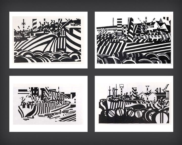 Thumbcrumble | Edward Wadsworth: Dazzle Ships & Vorticism