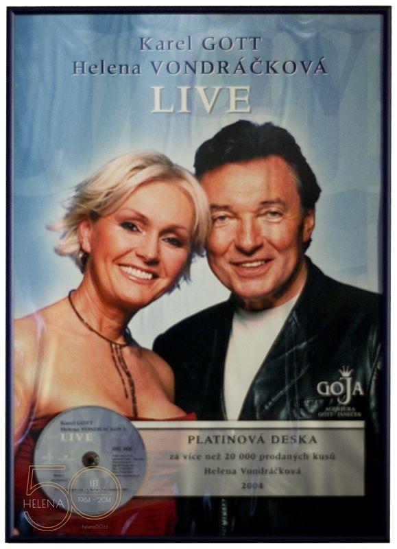 HELENA 50 LET NA SCÉNĚ | Platinová deska ... Karel & Helena Live
