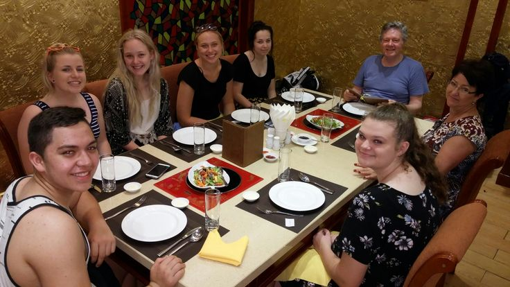 Waiting for another slice of Vietnamese cuisine. #VietnamSchoolTours #HaLongBay