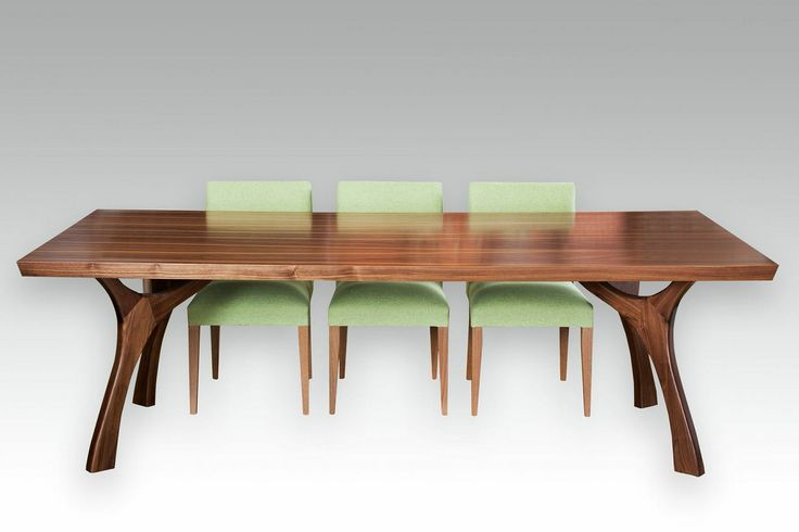 Dane Dining Table is designed by Lifestyle and hand made with a solid walnut base with a walnut veneer top.Tables are made to any size.