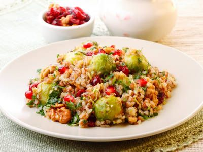 Warm Brussels Sprout and Cranberry Salad