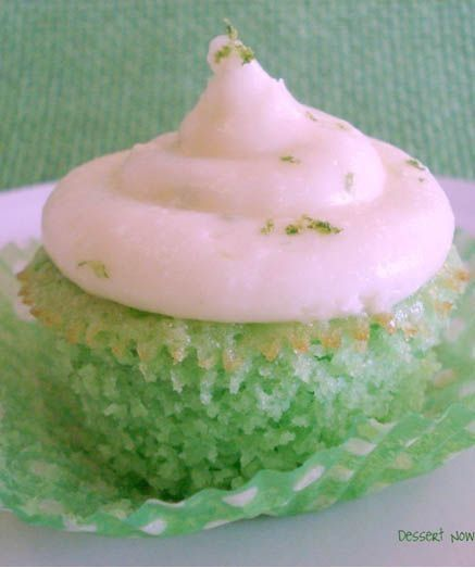 Key Lime Cupcakes for St.Patric's Day