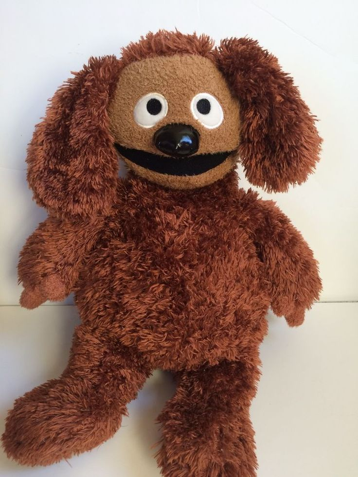 The Muppets Rowlf Plush Toy Disney Store Ralph Brown Dog