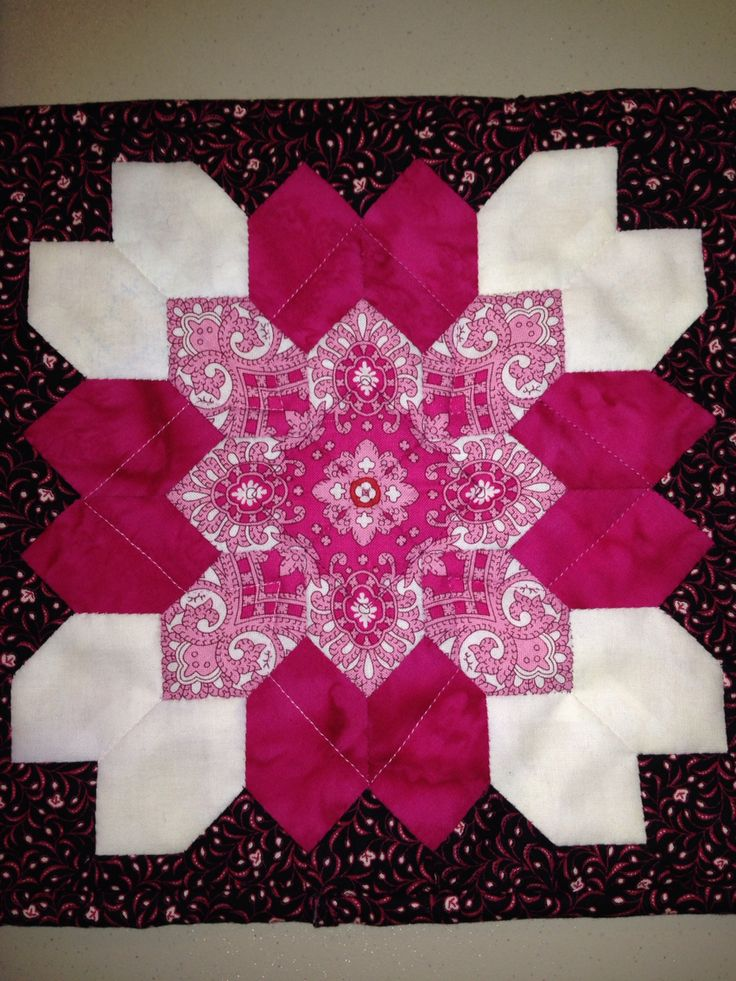 Lucy Boston (POTC/Patchwork of the Crosses) block I made for a friend. She likes pink.