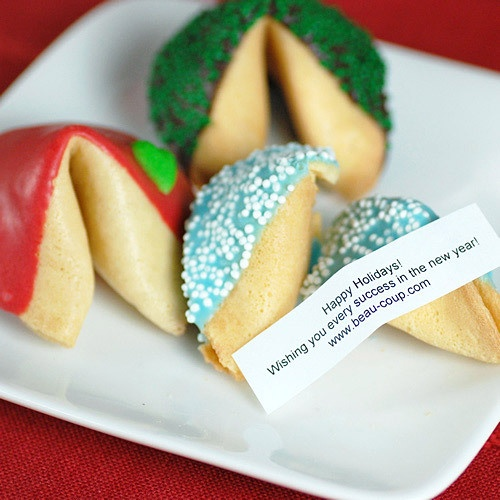 Personalized Fortune Cookies...Eh, a little pricey, but it's probably worth it once.