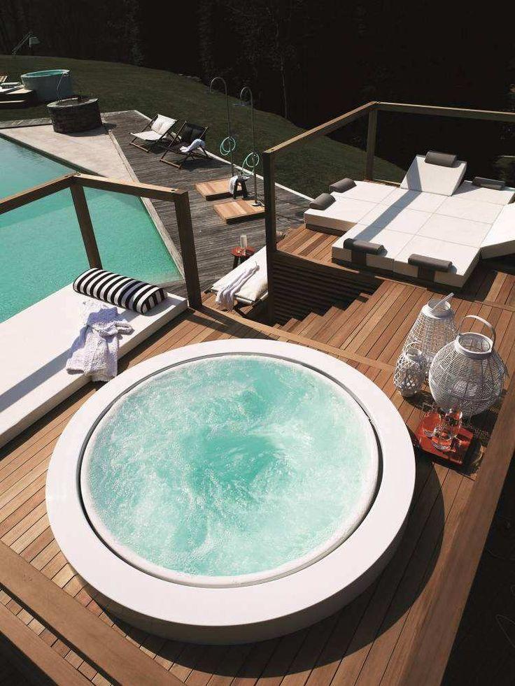 Die besten 25+ Jacuzzi garten Ideen auf Pinterest Jacuzzi pool - outdoor whirlpool garten spass bilder
