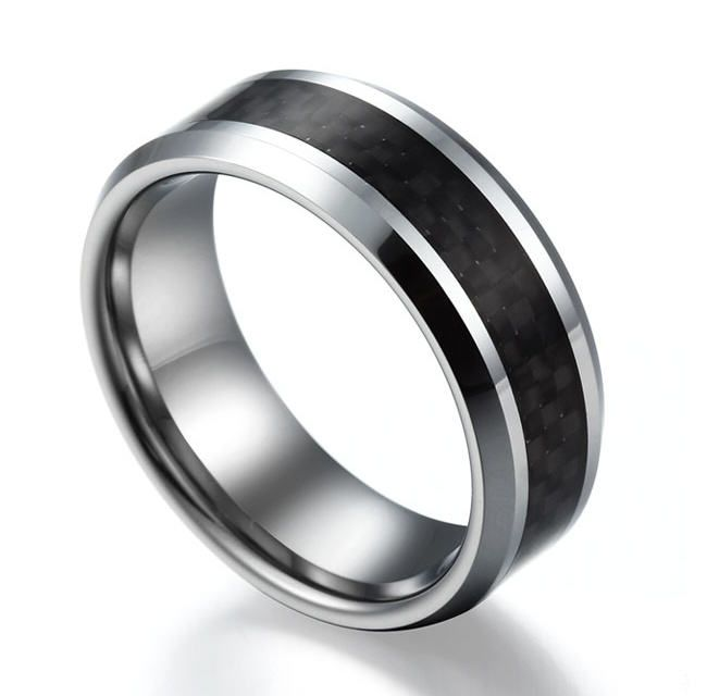 carbon wedding rings for him