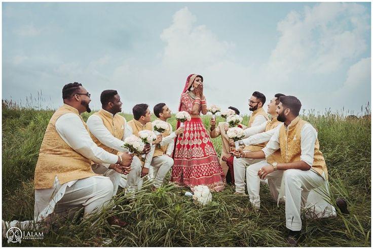 Groomsmen and bride | Indian Wedding Toronto | Ialam Photography| the big fat indian wedding inspiration www.thebigfatindianwedding.com