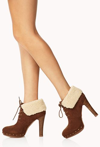 Cozy Faux Suede Booties | FOREVER 21 - 2000075276
