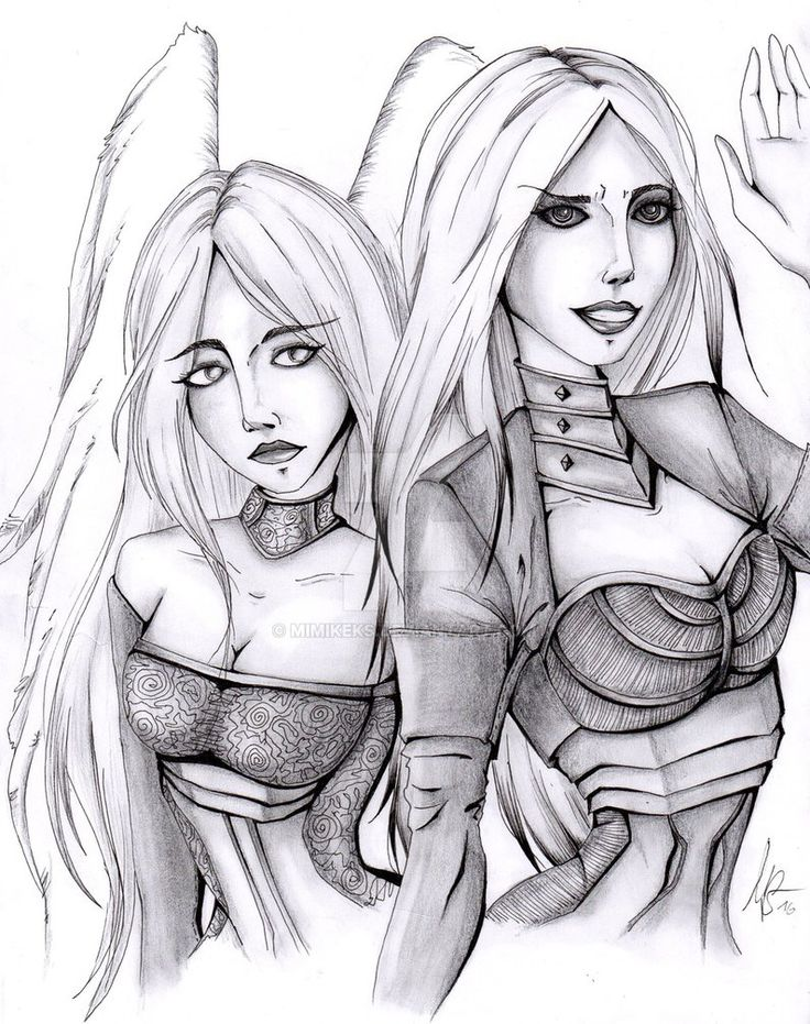 Avacyn The Purifier And Her Shadow Of Hope by MimiKeks.deviantart.com on @DeviantArt
