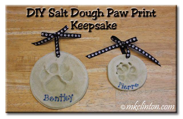 How to Make a Salt Dough Paw Print Keepsake #DIY
