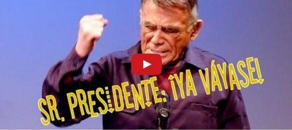 VIDEO. Pide Héctor Suárez a Peña Nieto que se vaya