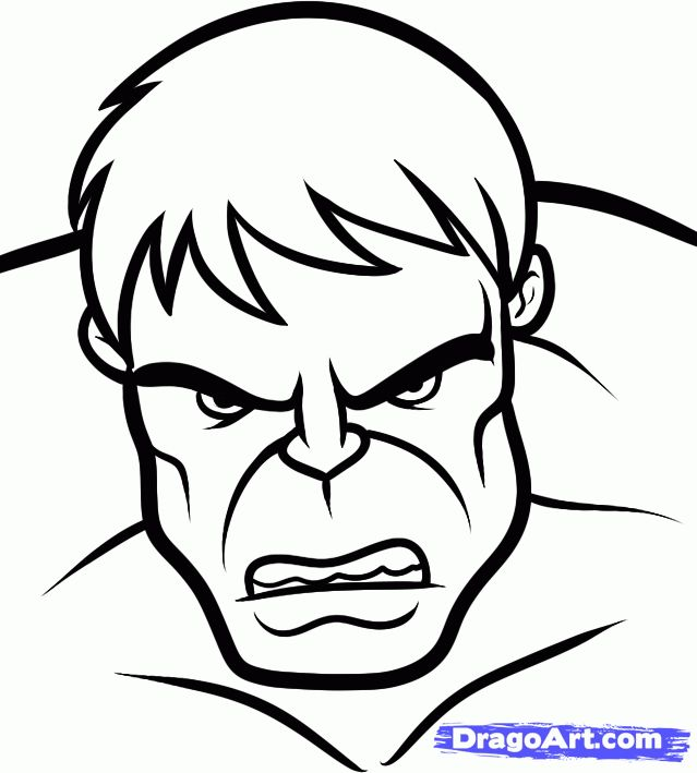 marvel easy draw drawings hulk dc heroes coloring pages sketch step