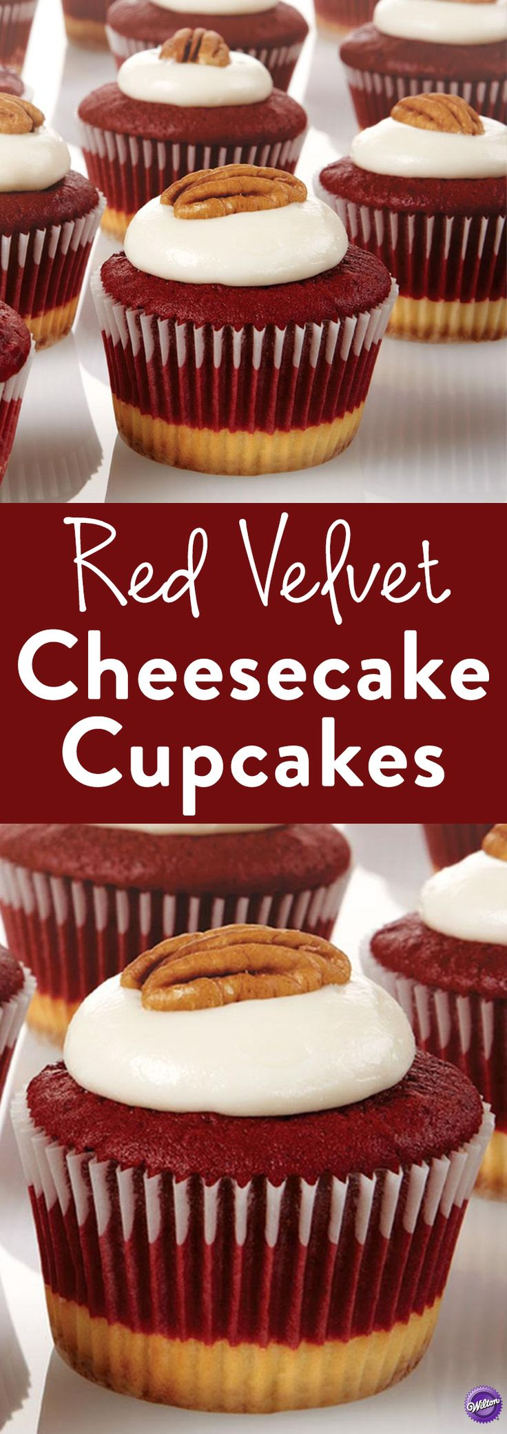 How to Make Red Velvet Cheesecake Cupcakes - Red Velvet Cheesecake Cupcakes - Here we have America's two favorite desserts combined into one cupcake! Creamy cheesecake and red velvet cake are the perfect combinations of sweetness. They make a great dessert treat for any gathering or celebration!