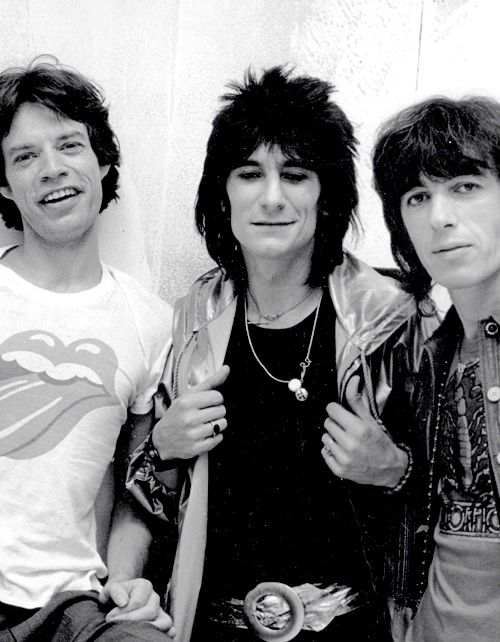 * m. mick jagger, ronnie wood & bill wyman #music
