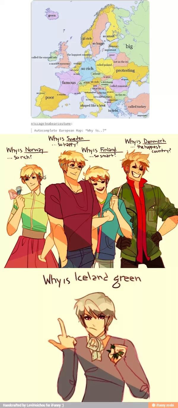 Lol Iceland << I LOVE THIS DRAWING STYLE OMF I MUST GO STALK- I MEAN LOOK AT MORE DRAWINGS THIS ARTIST HAD MADE