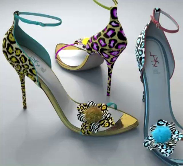 3D shoes rendering (turntable)  CGI