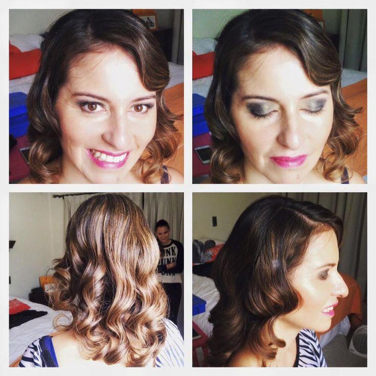 #MeicapAndHair de hoy para Rocío Correa (invitada a un matrimonio) con Renate M. #Meicap #makeup #mua #hair #hairdresser #weddingguest #beauty