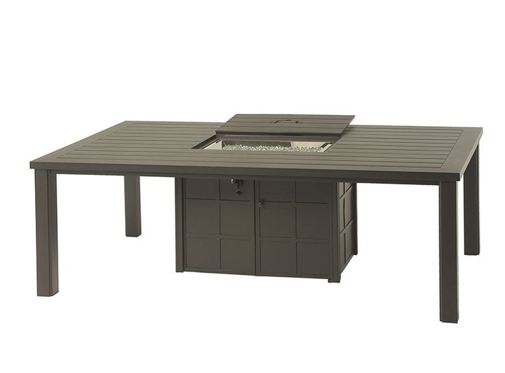 fire pit dining table patio set summer fire