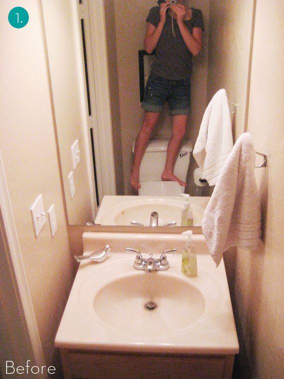 Tiny bathroom makeovers - Eye Candy: 10 Big Impact Small Bath Makeovers!