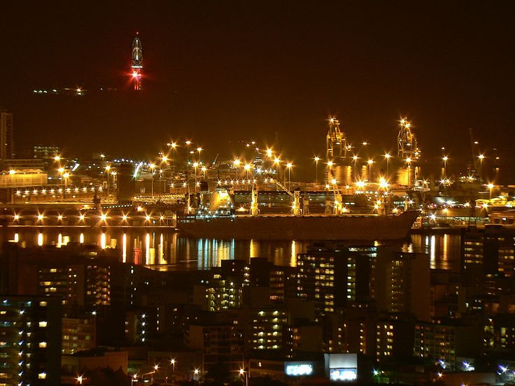 Durban harbour by night