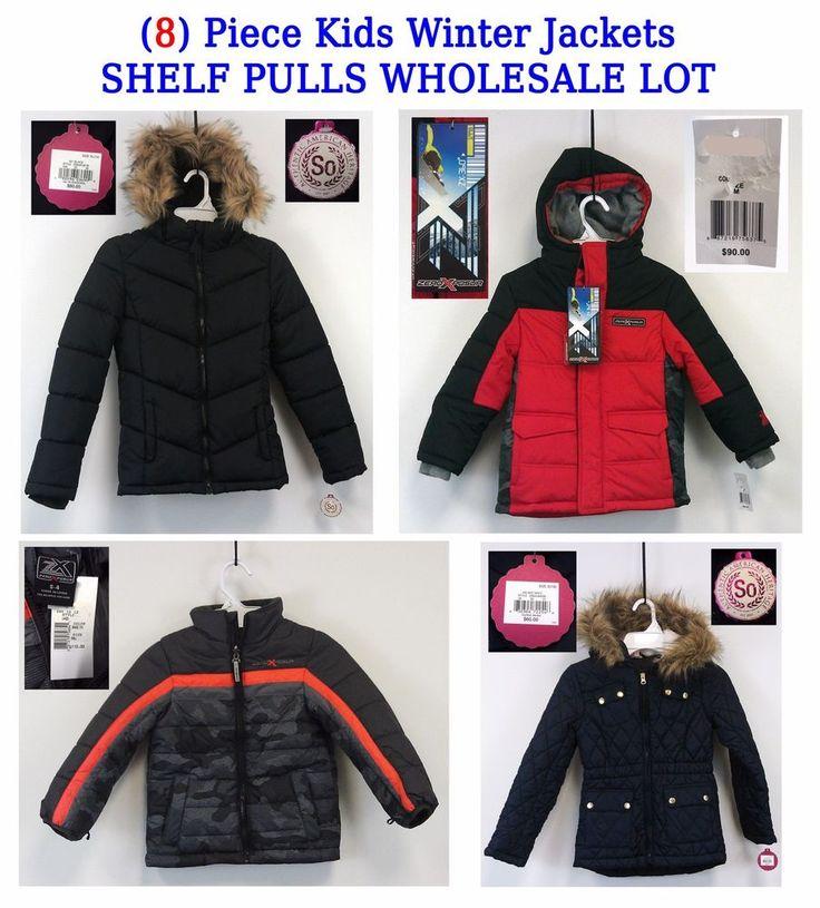 $100 for All 8 Kids Winter Jackets 8 Pc Lot Shelf Pulls Wholesale NWT $700 Retail ZeroXposur SO #ZeroXposur