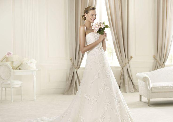 Pronovias presents the Dango wedding dress. Costura 2014.   Pronovias