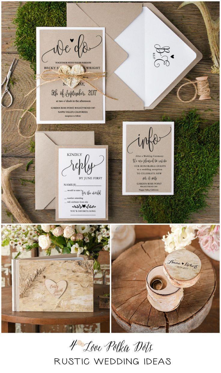 Rustic Wedding Ideas - all matching your wedding theme ! #rustic #weddingideas #weddingaccessories #wood #custom #handmade #eco #ecofriendly