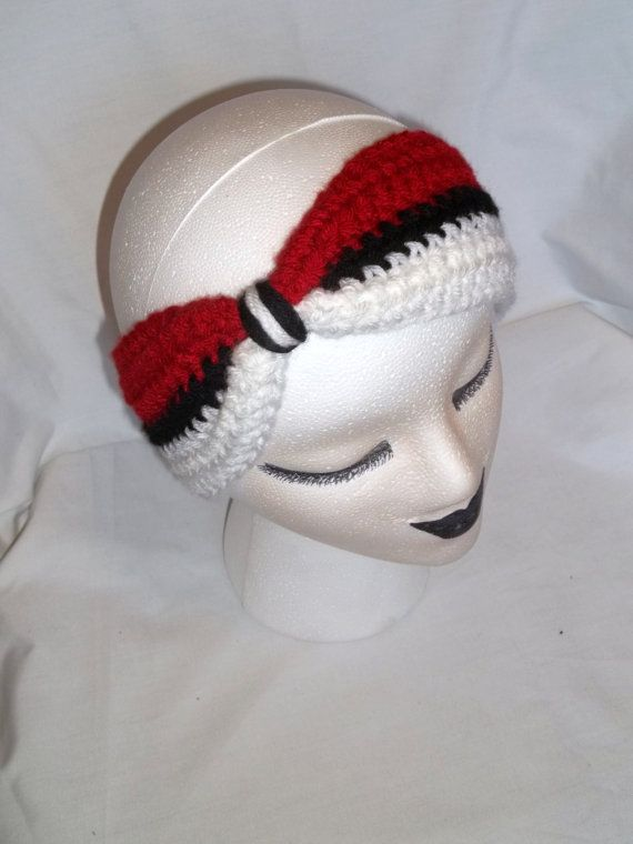 Pokeball Headband Crochet Geek Chic Pokeball by LilBitOfSunshine, $10.00