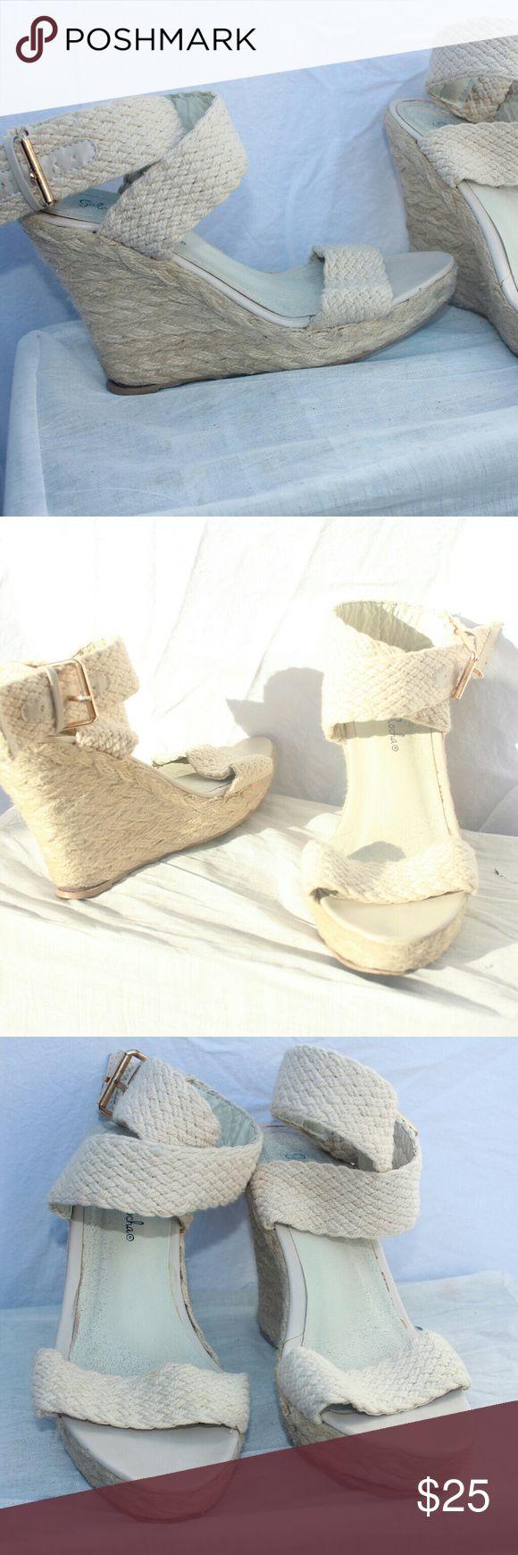 Gabriella rocha wedges Good condition Wrap around the ankle Gabriella Rocha Shoes Wedges