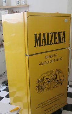Envelopamento de Geladeira Caixa de Maizena - ENV0561