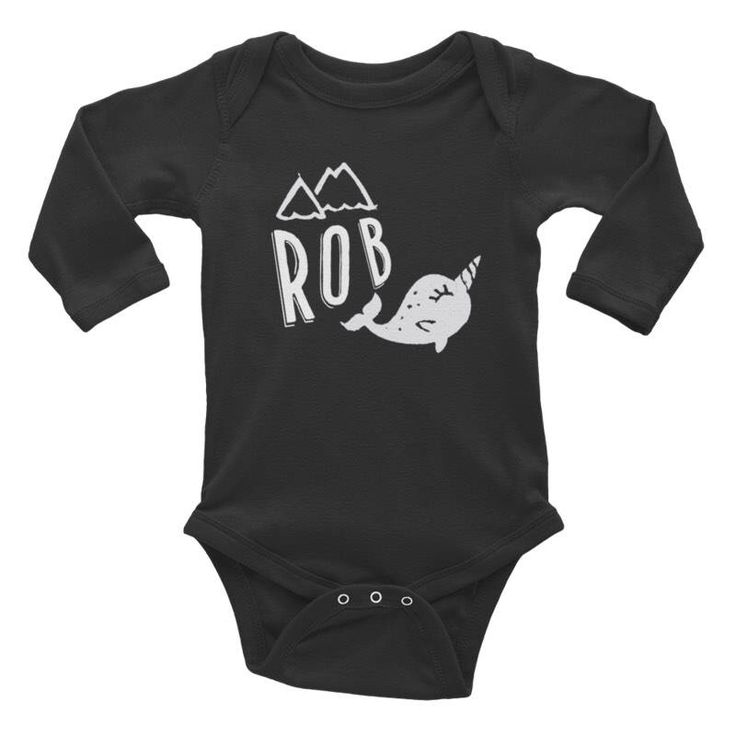 Excited to share the latest addition to my #etsy shop: Black long sleeve bodysuit with personalized narwhal print, narwhal baby onsie, newborn body suit black and white monochrome personalised #clothing #children #bodysuit #blackprintedonsie #babyboygift #babytop #personalizedonsie #arcticanimalsonsie #nauticalbabyonsie