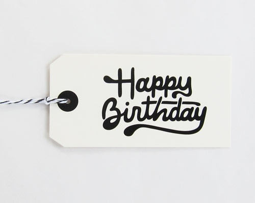 Happy Birthday Gift Tags by Scout's Honor Co