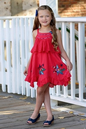Catimini Colors of Africa Cherry Sundress *Preorder*