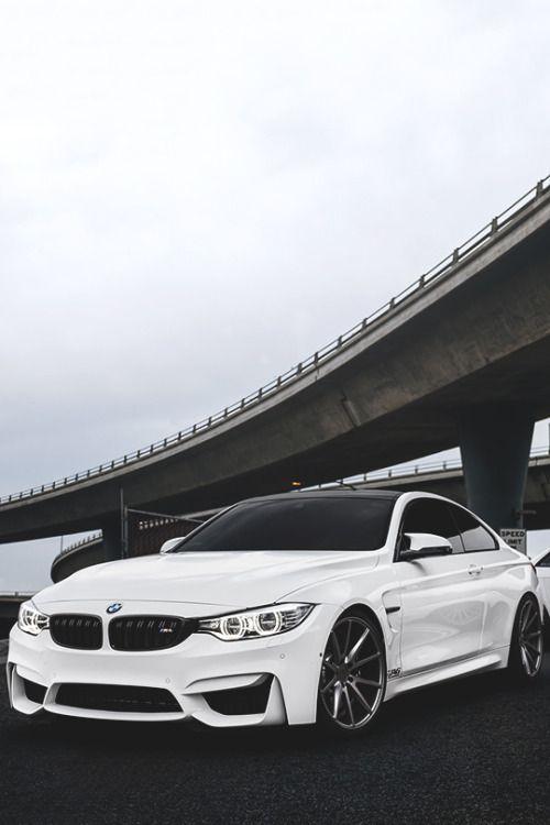 White BMW.