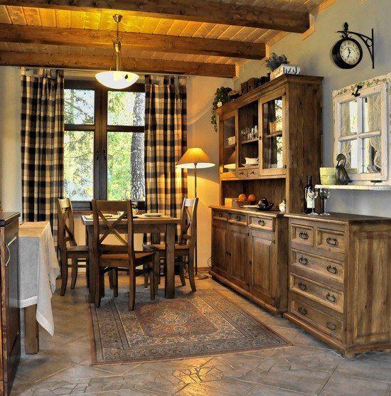 W kuchni. Niezwykła aranżacja w stylu rustykalnym #rustykalny #aranżacje #drewno