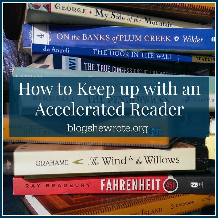 Blog, She Wrote How to Keep up with an Accelerated Reader