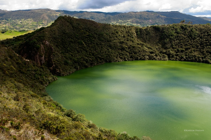 Lake Guatavita, near Bogota, Colombia. This is where the legend of El Dorado comes from.