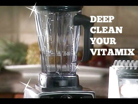 In this video we clean our 64 oz Vitamix container quickly (under 7 minutes from start to finish) and using only baking soda, vinegar, warm water, and just a...