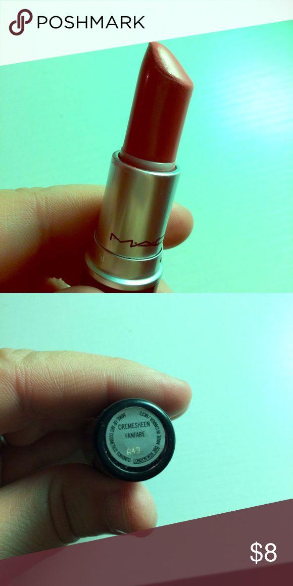 // MAC 'Fanfare' Lipstick gently used / lots of lipstick left MAC Cosmetics Makeup Lipstick
