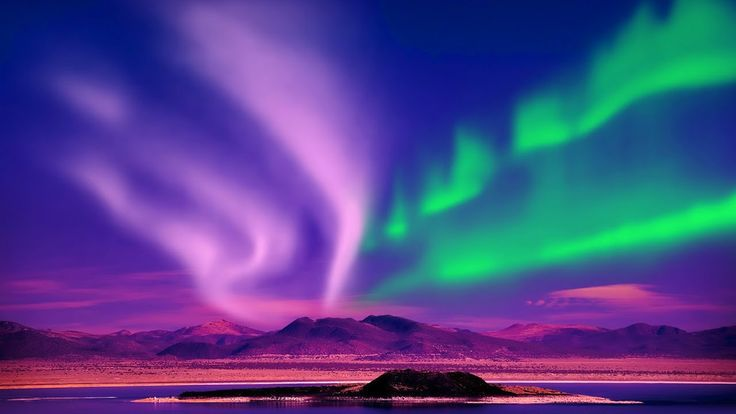 Relax Music & Stunning Aurora Borealis - Northern Polar Lights - 2 Hours...