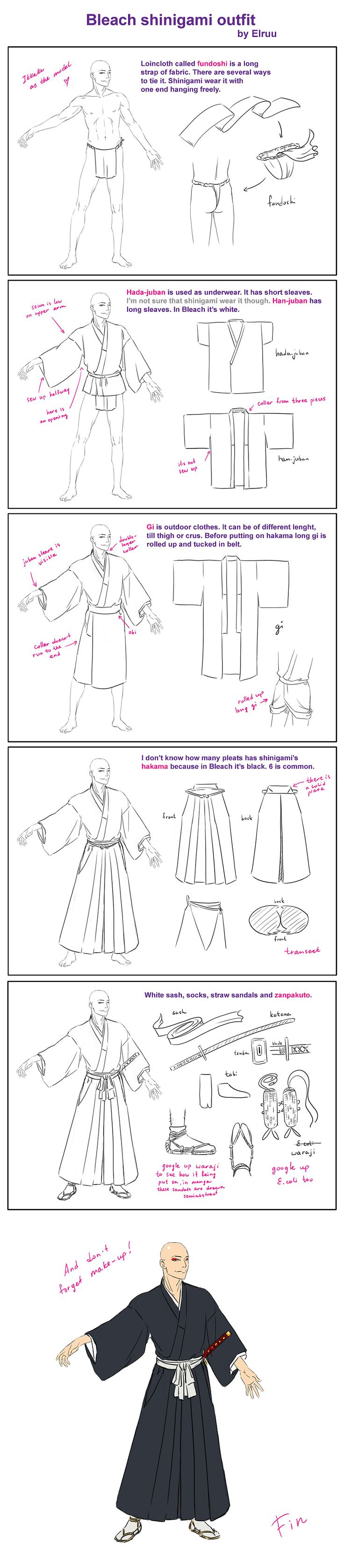 Bleach shinigami outfit by Elruu.deviantart.com on @deviantART
