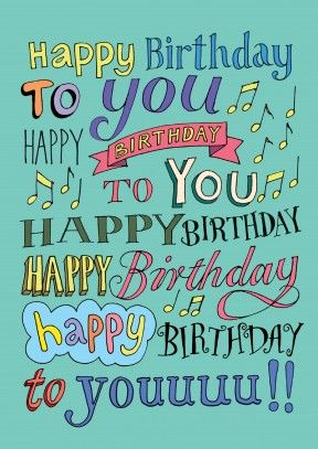 Happy Birthday To You Song | Happy Birthday Card If you don't have a great singing voice, this card is perfect for you.