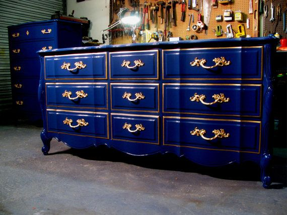 Midnight Navy French Dresser. Colorful FurnitureUnique ...