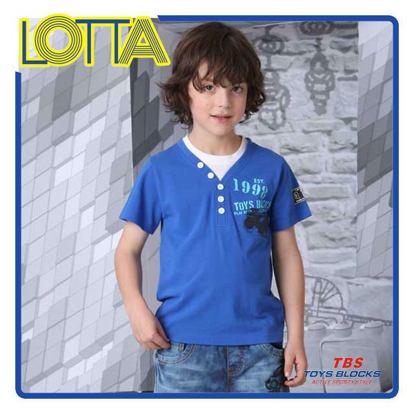 2015 korean style kids wear simple printed t-shirt kids fashion