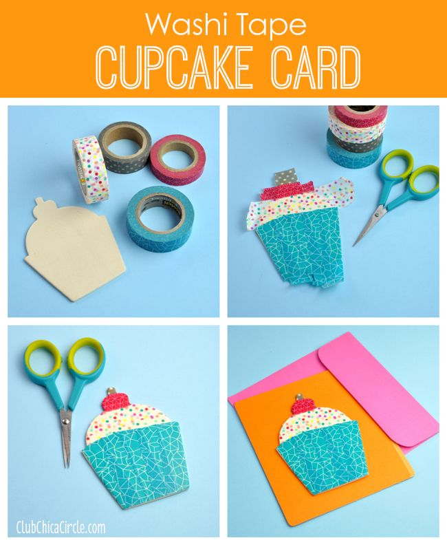 Washi Tape Cupcake Card