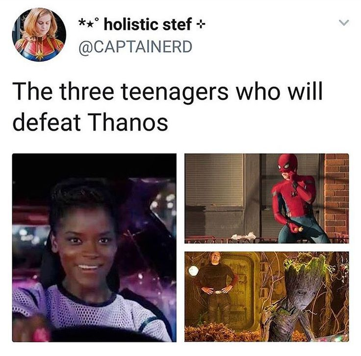 The three teens who will defeat thanos. If Shuri is not in infinity war I will be uPsEt