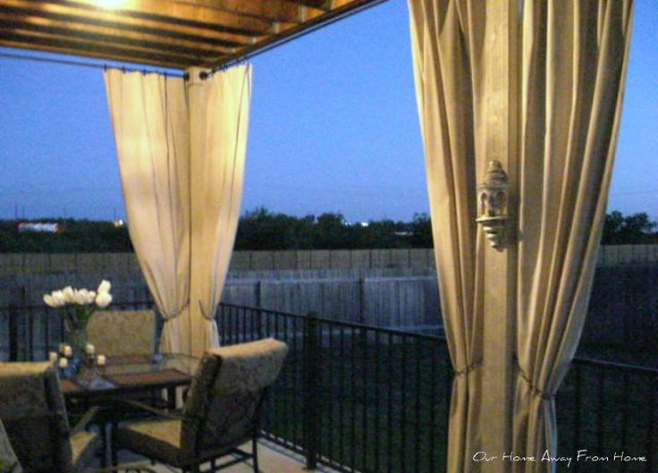 No Sew Drop Cloth Outdoor Curtains For Patio